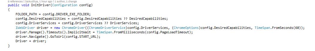 chrome driver implementation 2
